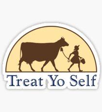 Treat Yo Self Ice Cream Sticker Sticker