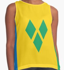 St. Vincent and The Grenadines National Flag Sleeveless Top