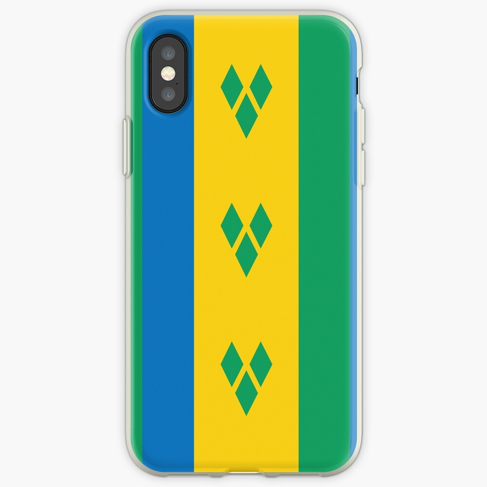 St  Vincent and The Grenadines National Flag | iPhone Case & Cover