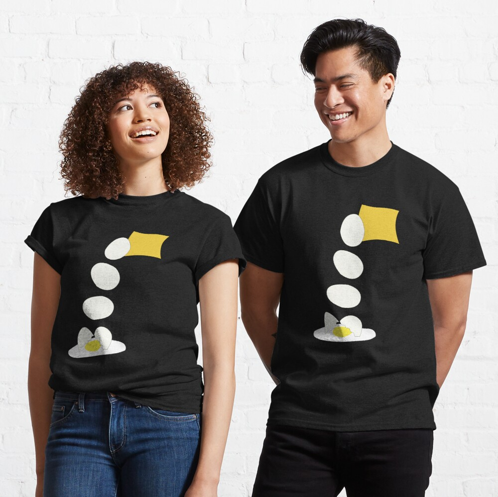 Food Fight - Cheese vs Egg. Classic T-Shirt