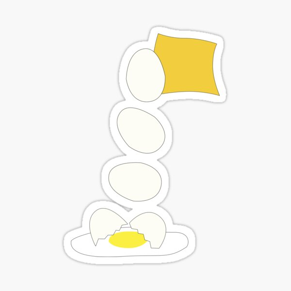 Food Fight - Cheese vs Egg. Sticker