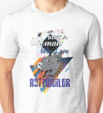 Just a Woman Who Loves Rottwiler Unisex T-Shirt