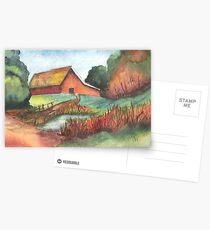 A Quiet Barn Scene Postkarten