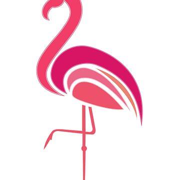 80s Retro Pink Flamingo Miami by ckennicott