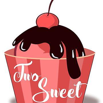 Two Sweet Second Birthday Ice Cream Strawberry Cherry Chocolate by ckennicott