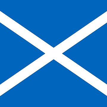 Blue and White Scottish Flag by podartist