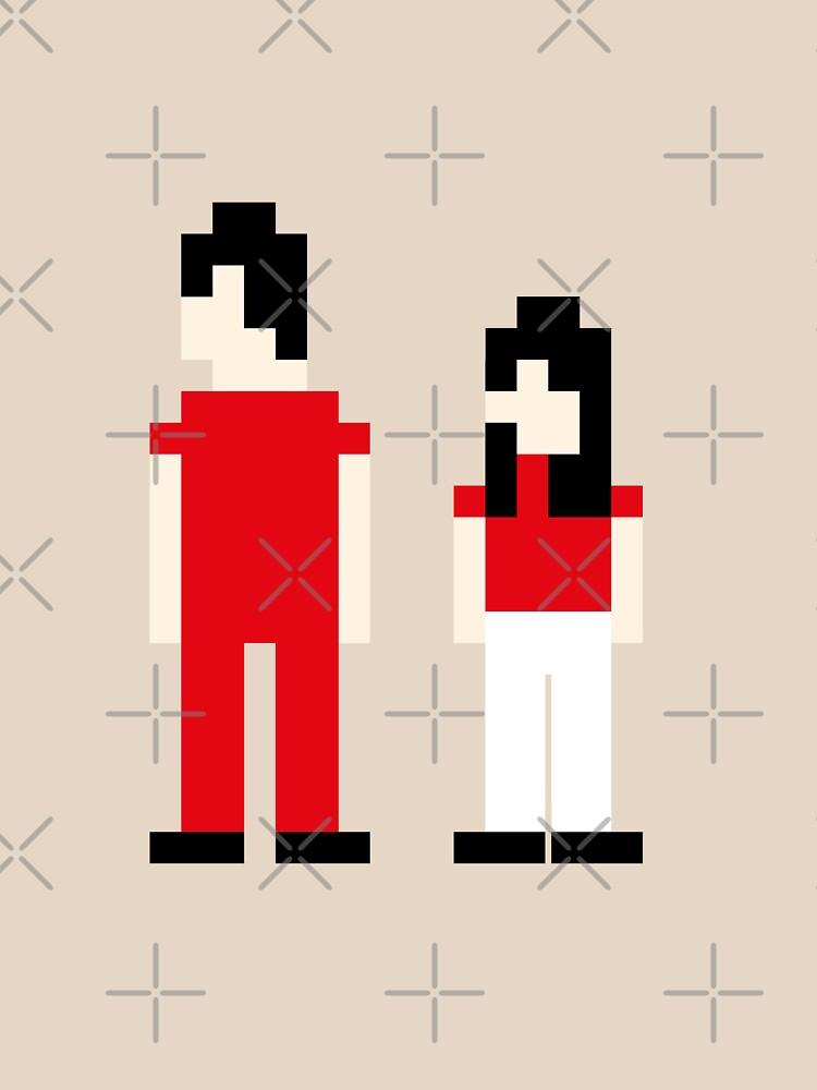 The White Stripes Pixel by Susanphl