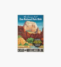 Vintage Travel Poster: Zion National Park Art Board