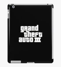 Grand Theft Auto III logo iPad Case/Skin