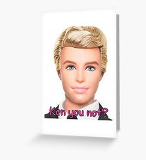 Ken Doll Greeting Card