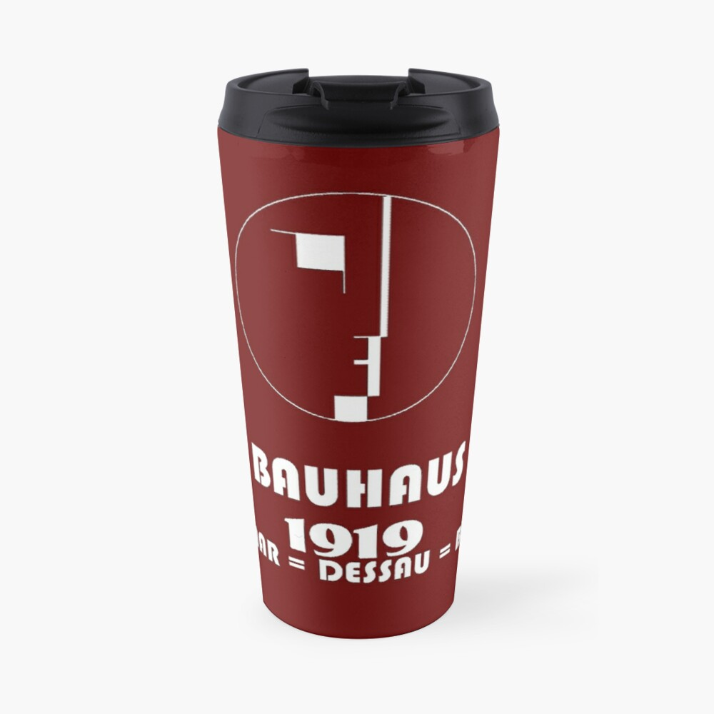 Bauhaus Original 1919 Logo Travel Mug