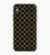 Chic Gold Quatrefoil iPhone Case
