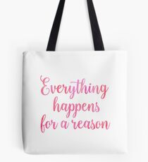 Inspirational Watercolor Quote Tote Bag