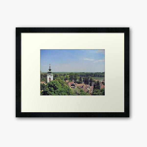 View of Szentendre in Hungary Framed Art Print