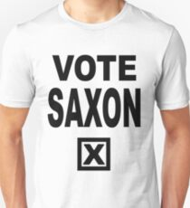 Vote Saxon [Black Lettering] T-Shirt