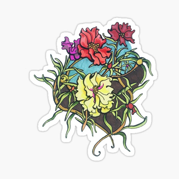 Moss Roses Sticker