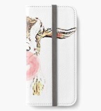 Funny Goat With Pink Bubblegum iPhone Wallet/Case/Skin