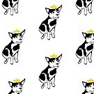 King Porkchop Puppy Dog - Black, No Text by RiftwingDesigns