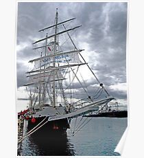 "Tall Ship ""Lord Nelson"" at Williamstown, Australia Poster"