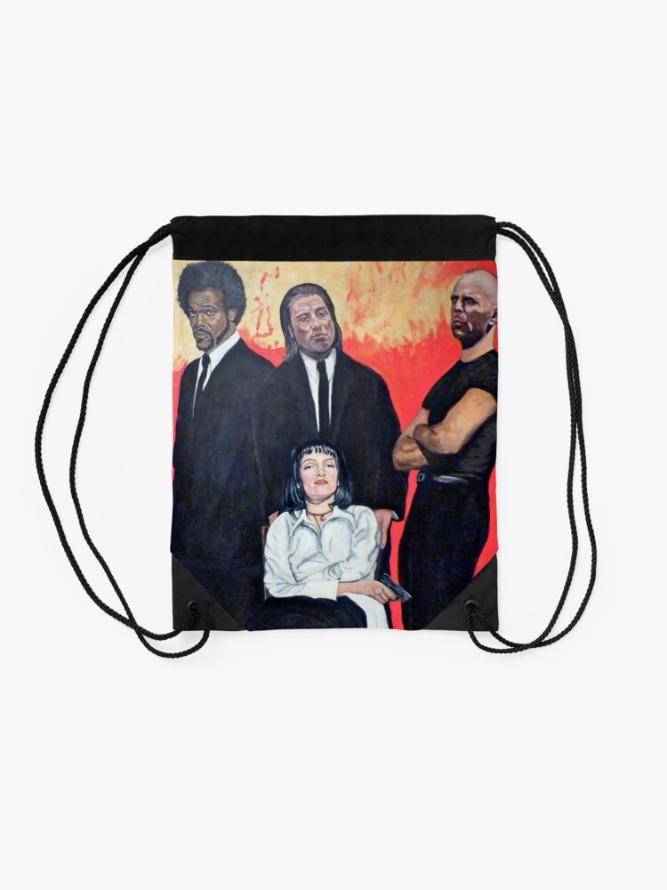 Alternate view of I Don't Smile for Pictures Drawstring Bag