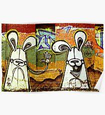 Graffiti Bunnies Poster