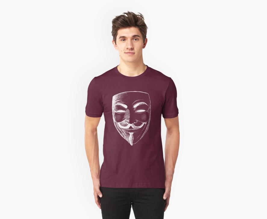 V for Vendetta (Inverted Colors) by Thorigor