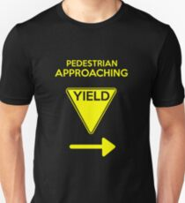 Pedestrian approaching stay to the right Unisex T-Shirt