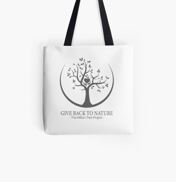Give Back to Nature -  Grey Logo All Over Print Tote Bag