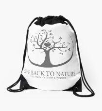 Give Back to Nature -  Grey Logo Drawstring Bag