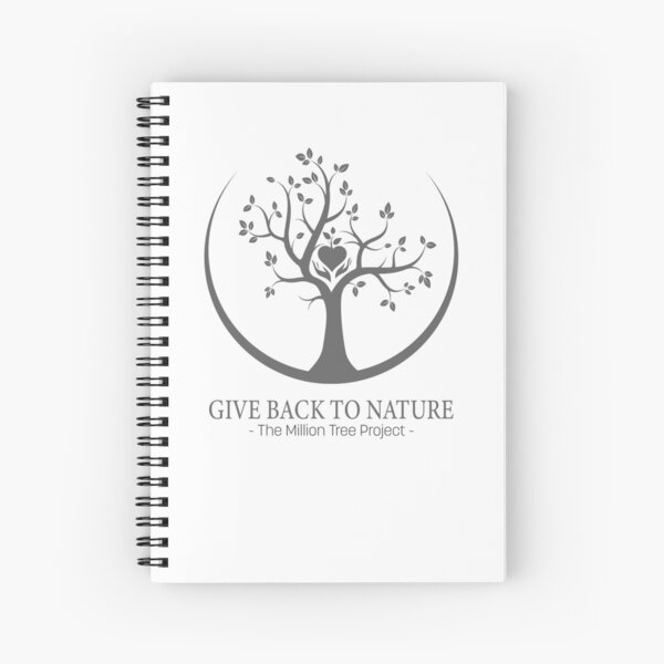 Give Back to Nature -  Grey Logo Spiral Notebook