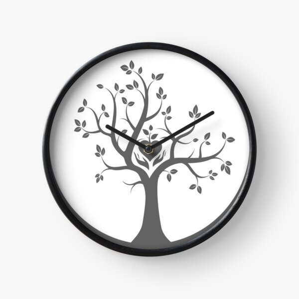 Give Back to Nature -  Grey Logo Clock