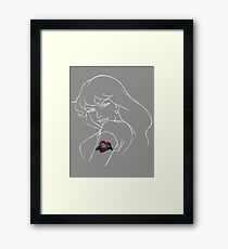 Robin and The Dream Weavers (White Line Art) Framed Print