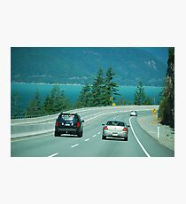 Road Leading to 2010 Winter Olympics Photographic Print