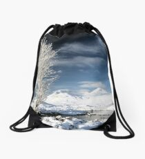 Glencoe winter scenery Drawstring Bag
