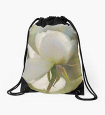 winter rose Drawstring Bag