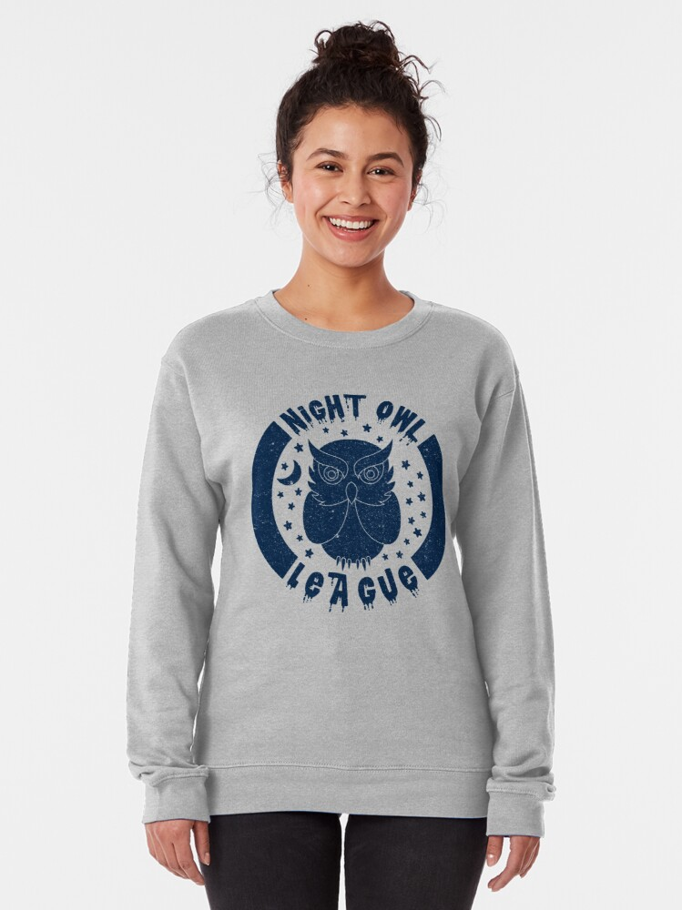 Alternate view of Night Owl League - BLUE Pullover Sweatshirt