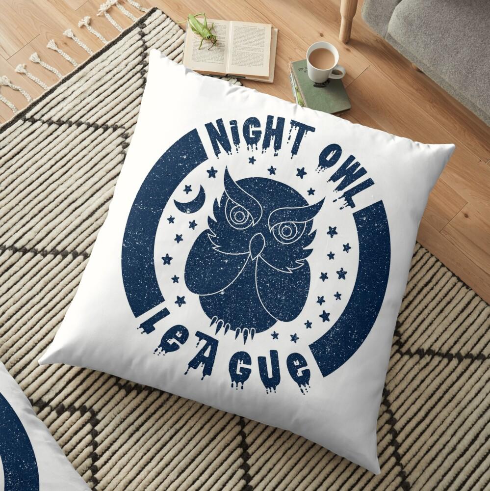 Night Owl League - BLUE Floor Pillow