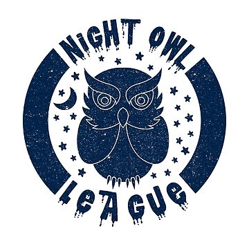 Night Owl League - BLUE by PrintablesP