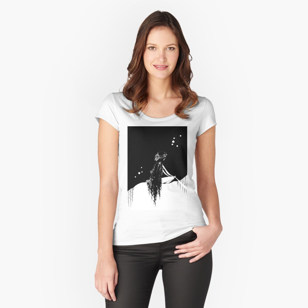 Lady Godiva Fitted Scoop T-Shirt