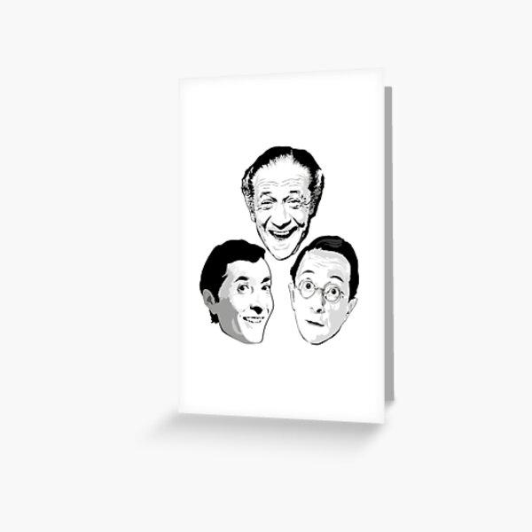 Kenneth Williams, Sid James and Charles Hawtrey Greeting Card