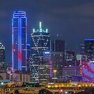 Dallas Patriotic Skyline by josephhaubert