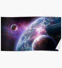 Sci-Fi Planet Concept Art Poster