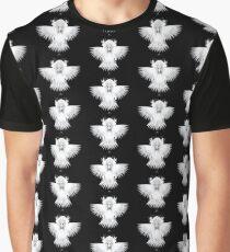 Patterns of Strange Hummingbird 1B. White on black background. Graphic T-Shirt