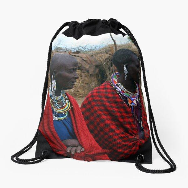 Massai Wives of the Serengeti Drawstring Bag