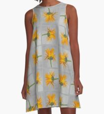 Marigold with Punk Hairstyle A-Line Dress