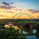 Dallas Trinity Sunset by josephhaubert