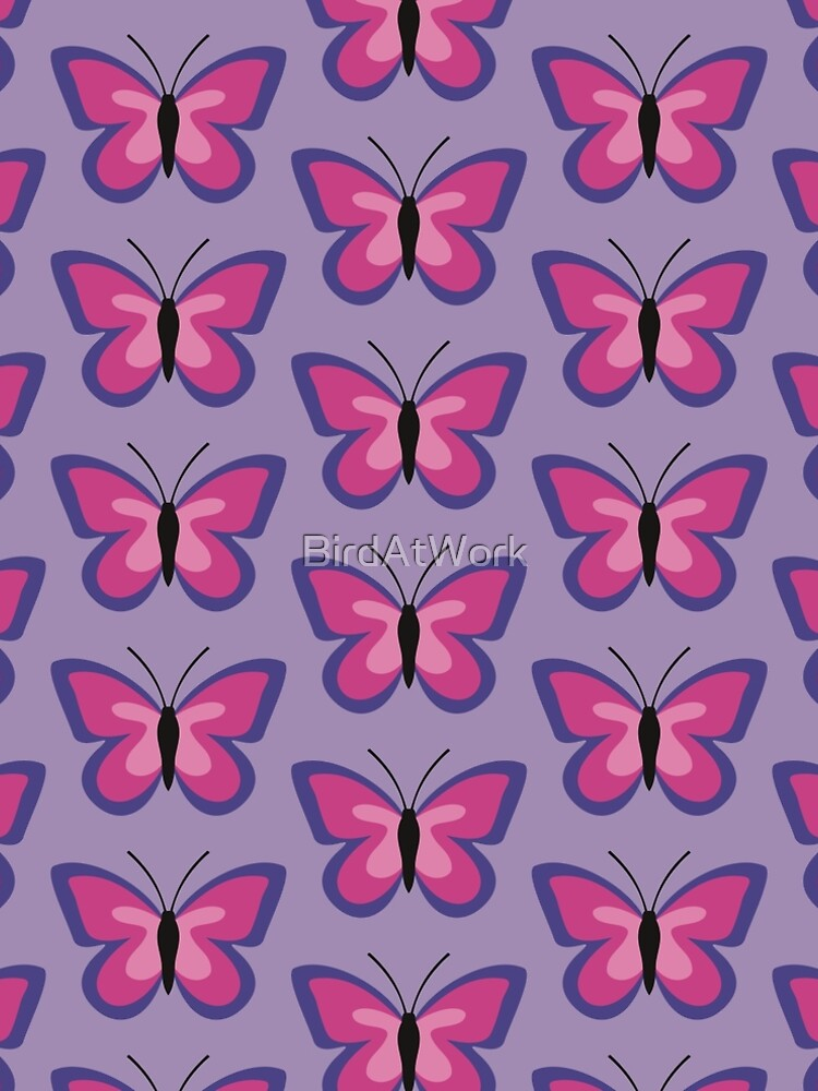 Violet Magenta Pink Butterfly by BirdAtWork