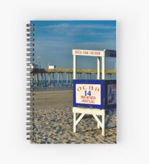 Beautiful Day At The Beach Spiral Notebook