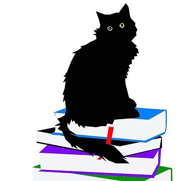 Bookish Cat by sorakaji