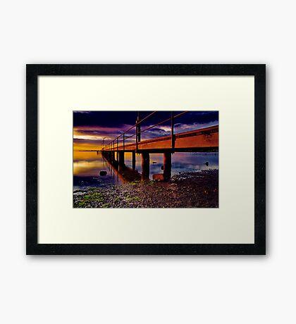"""Boardwalk to the Break O' Day"" Framed Print"